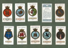 Tobacco cigarette cards set  Ships Badges.1925